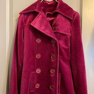 Vintage Juicy Couture Velvet Trench Coat